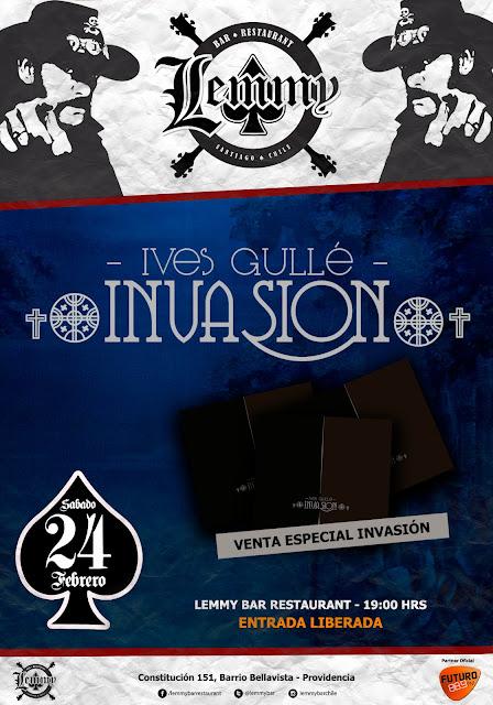 """Venta especial de """"Ives Gullé-Invasión"""" este sábado en Lemmy Bar"""