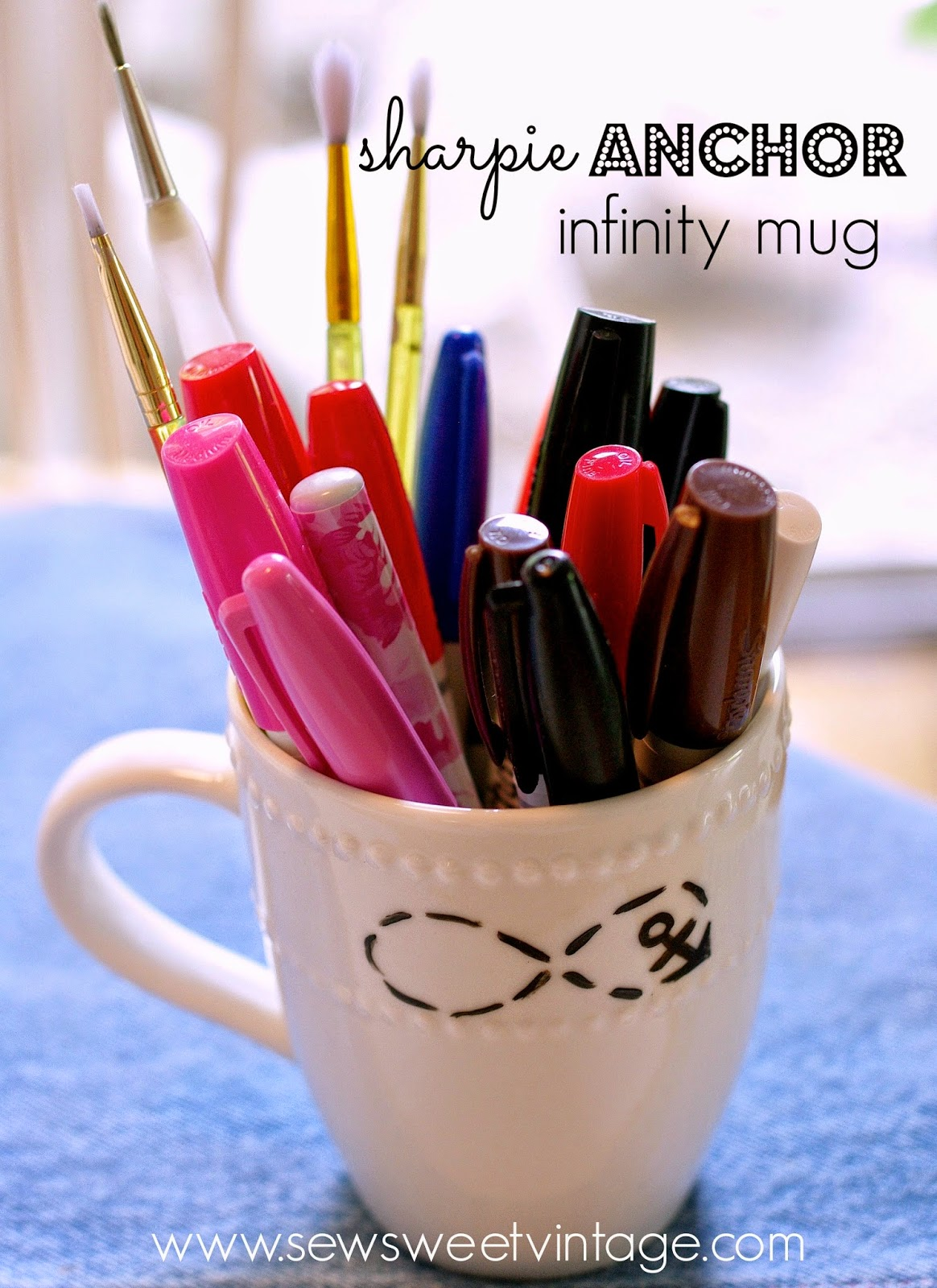 how to make a sharpie anchor mug