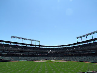 Center to home, Oriole Park at Camden Yards