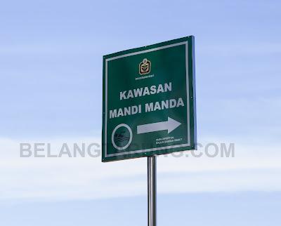 Signboard Mandi Manda Bukit Keluang
