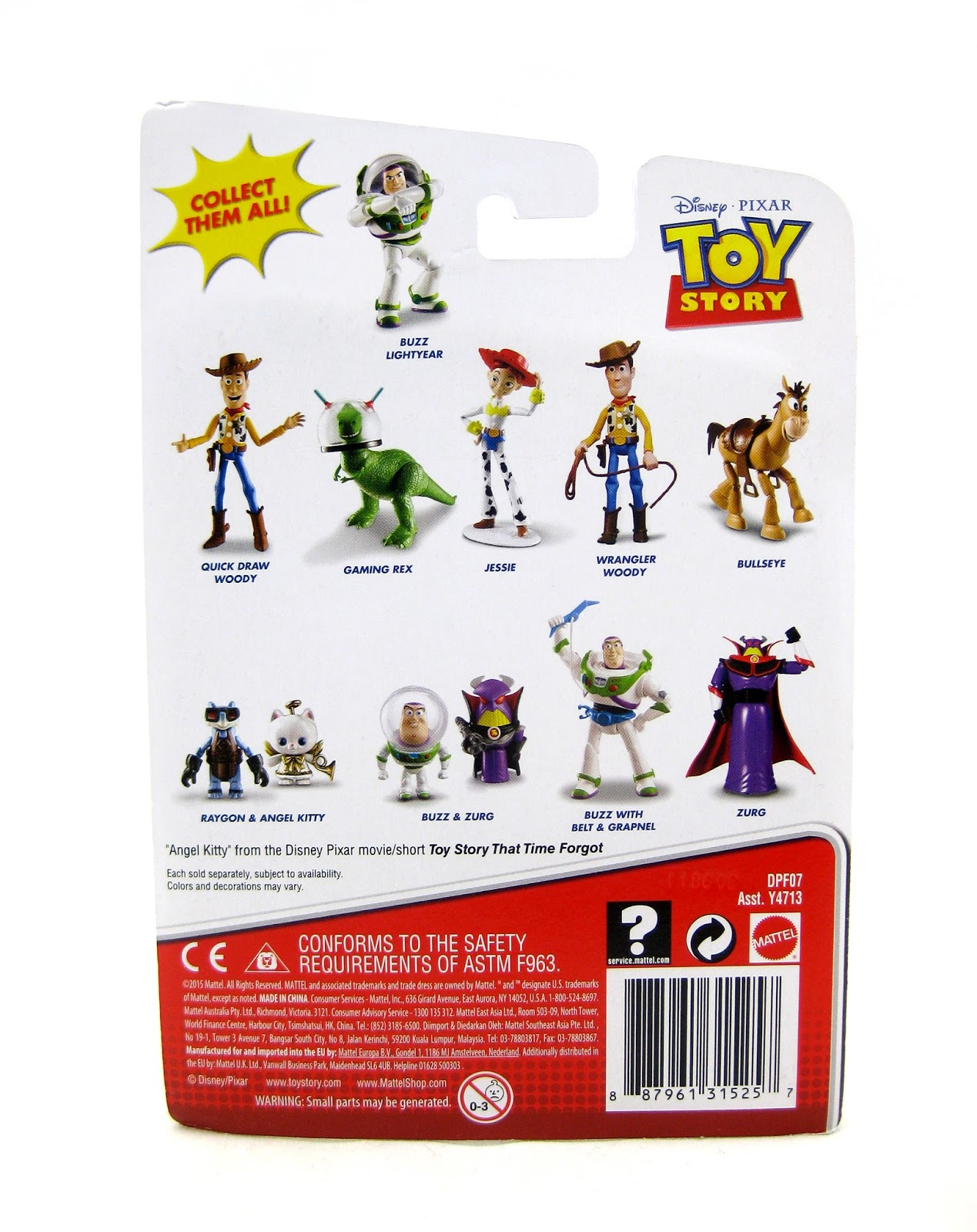Toy story of terror 1 2 3 buzz lightyear of star command for sale - Toy Story Toons Small Fry Buzz And Zurg Figures