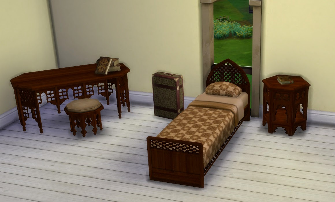 My Sims 4 Blog: TS2 - Moroccan Living and Bedroom Set ...