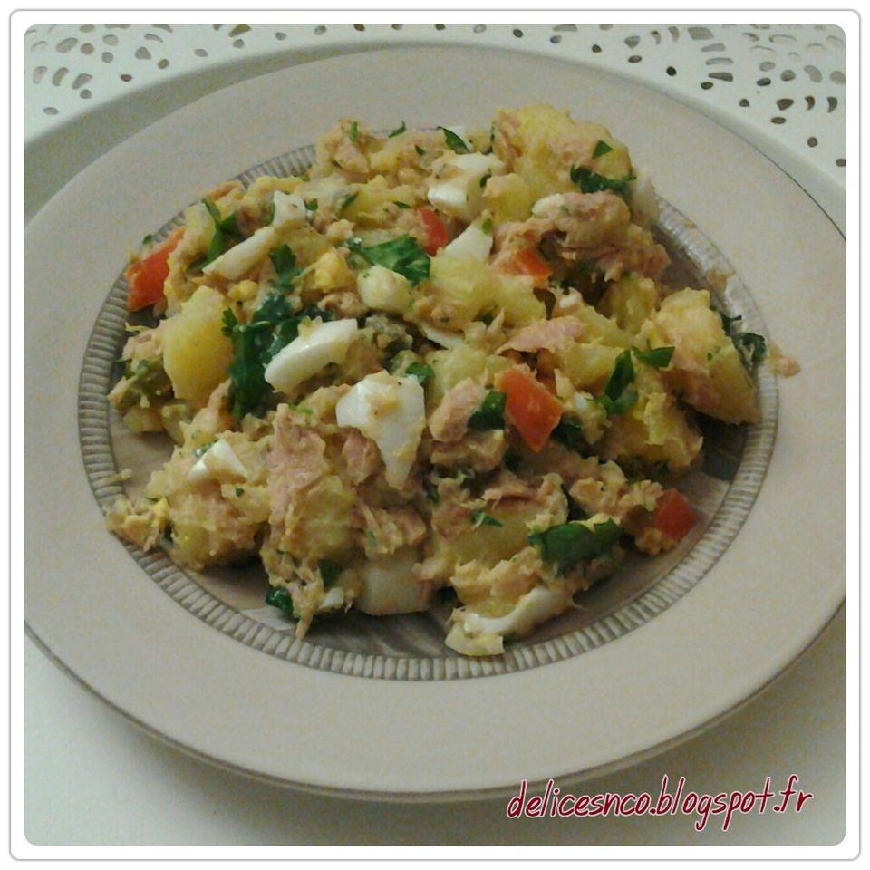 Delices And Co Salade De Pommes De Terre Au Thon Et Aux Oeufs