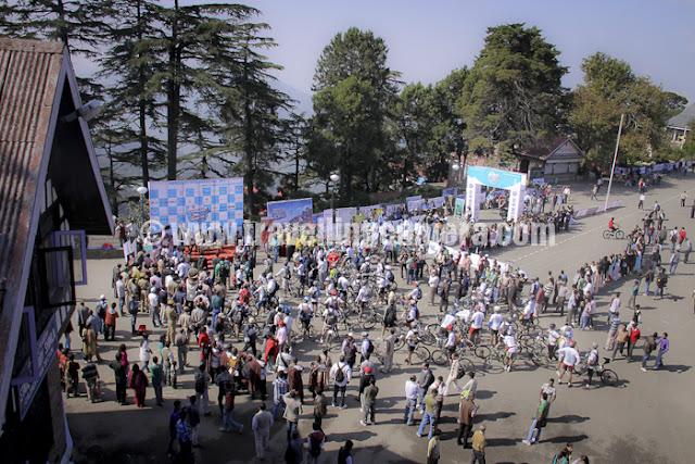 Here is a top view of flag-off ceremony of Mountain Terrain Biking Himachal on 1st Oct 2011 !!!