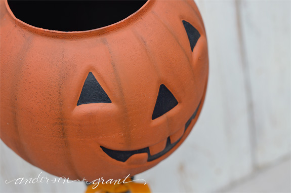 Halloween Jack O' Lantern Candy Bowl | www.andersonandgrant.com