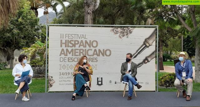 El encuentro con la literatura trasciende fronteras a través del streaming en el tercer Festival Hispanoamericano de Escritores de Los Llanos de Aridane