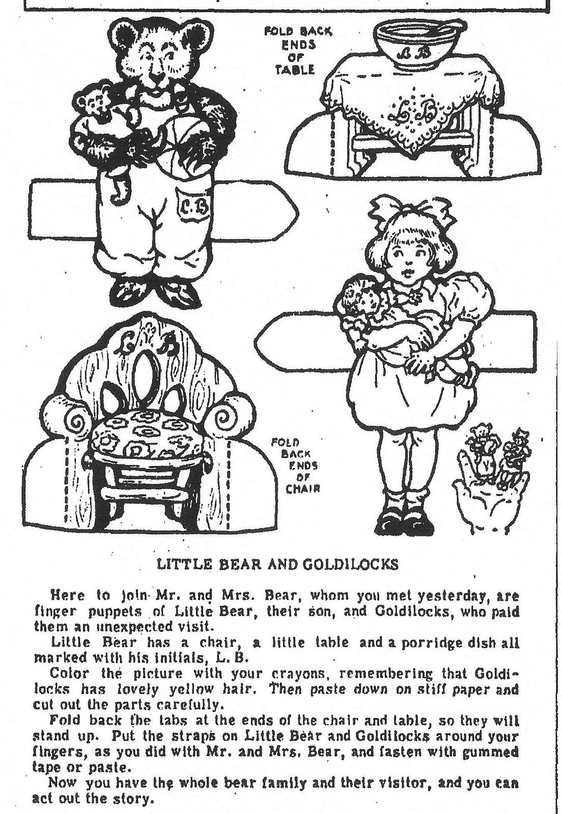 Mostly Paper Dolls: GOLDILOCKS