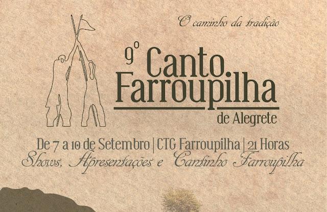 O 9º Canto Farroupilha de Alegrete acontece de 07 a 10 de setembro