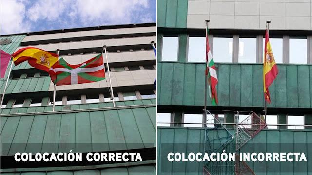 Banderas en el balcón del Ayuntamiento de Barakaldo