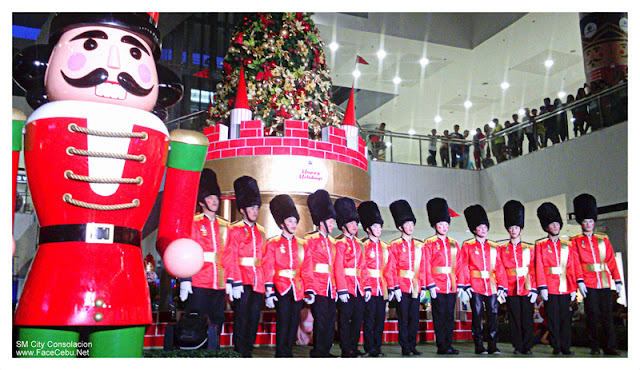 Soldiers Dancers during SM City Consolacion Christmas Tree Lighting
