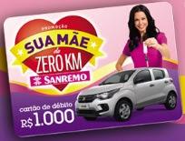 Cadastrar Promoção Sanremo 2017 Sua Mãe de Zero KM