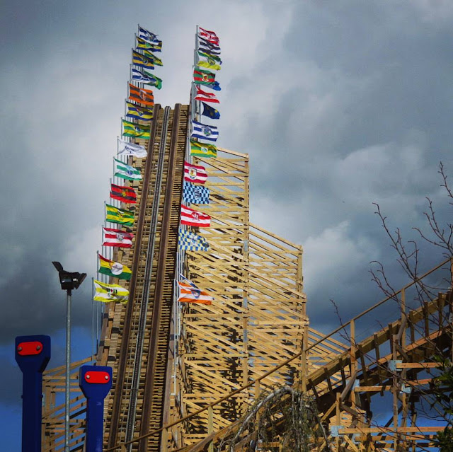 Tayto Park - Wooden Roller Coaster