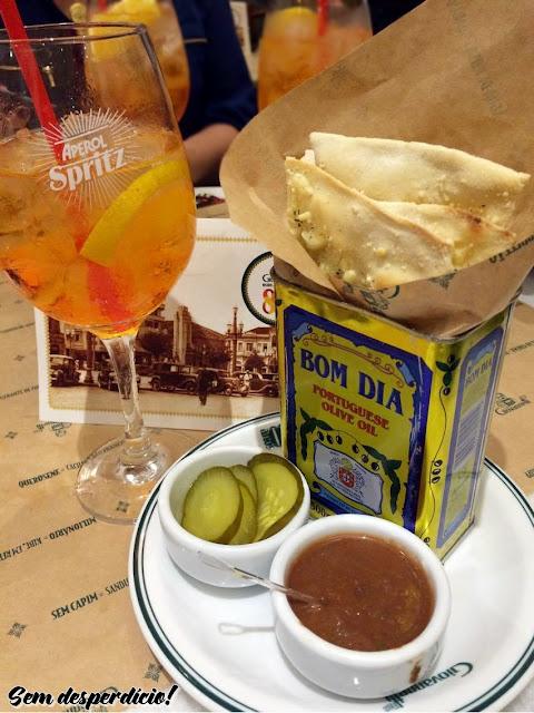 drink aperol entrada massa pizza giovanetti campinas