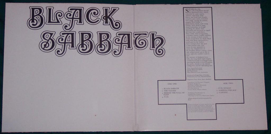 Album Covers Galore Black Sabbath Black Sabbath 1970
