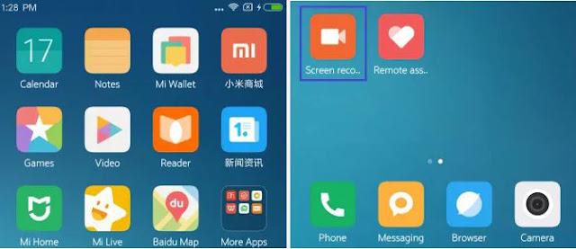 Cara Merekam Layar Xiaomi MIUI 9 Tanpa Root