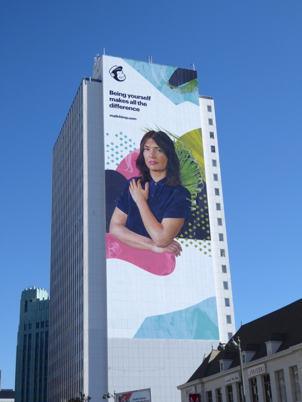 Mailchimp Being yourself makes all difference billboard