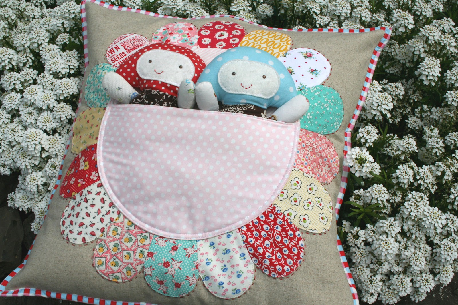lovely little handmades: pretty petal pocket pillow & old ...