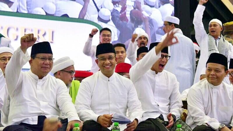 Anies Baswedan saat acara haul Soeharto