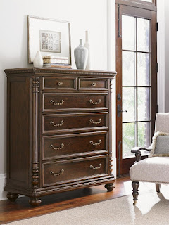 Kilimanjaro Vickers Chest with Six Drawers Ant Turned Wood Pilasters
