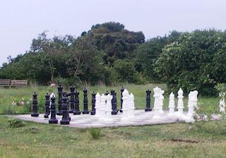 Man size chess board