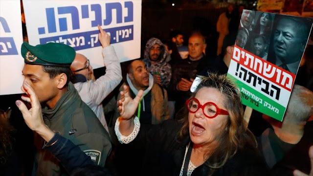"""""""corrupto, vete a casa""""; israelíes piden renuncia de Netanyahu"""