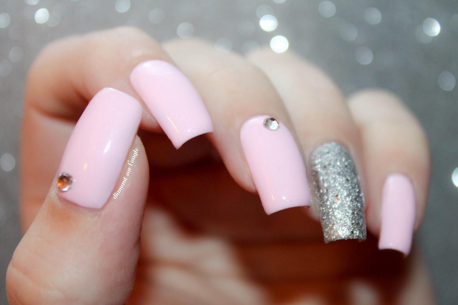 Pink Swarovski Nail Art