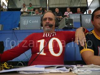 Carlo Zampa Sassuolo Roma 1-3 telecronisti tifosi Serie A video