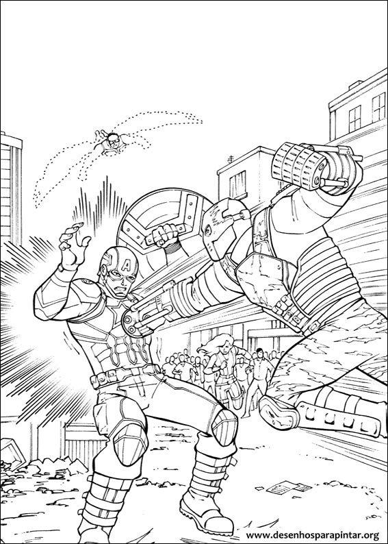captain america civil war and avengers free coloring pages - Civil War Coloring Pages Kids