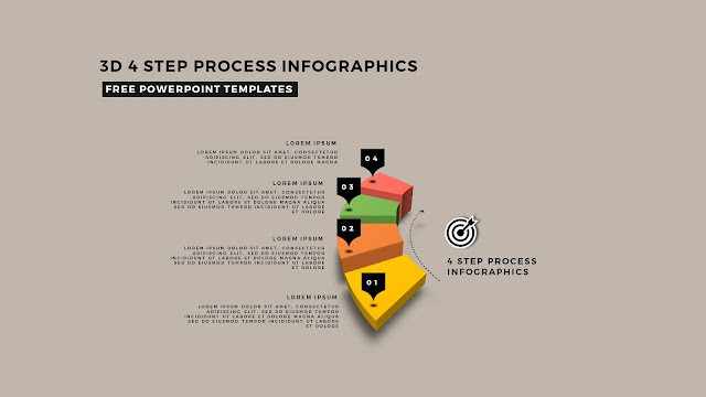 Multi Step 3D Circular Process Diagram Infographic Free PowerPoint Template Slide 4