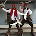 WTH?! Check out P-Square's funny costume for Calabar Carnival (PHOTOS)