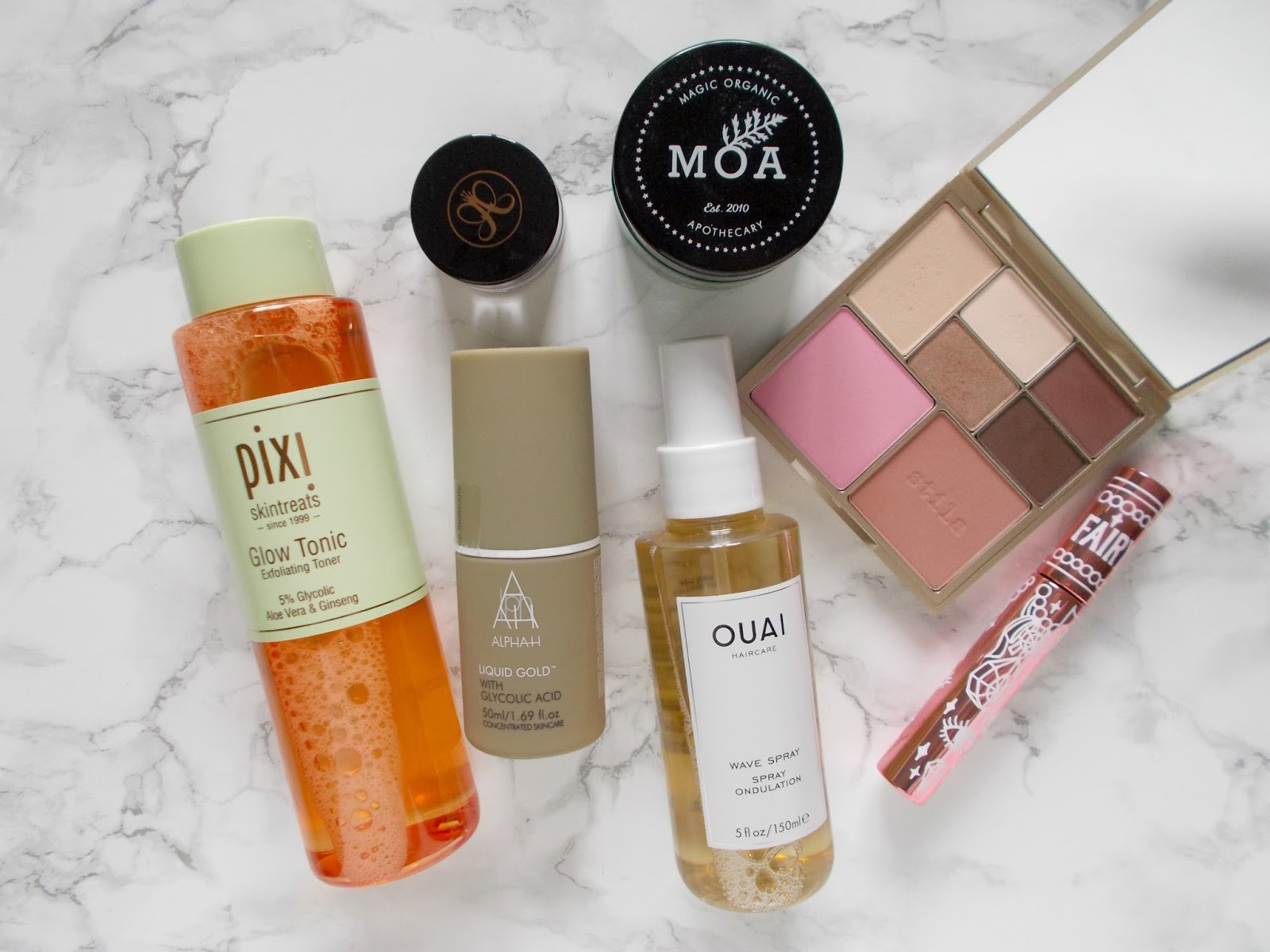 cult beauty haul makeup skincare stila pixi alpha h ouai fairydrops abh moa
