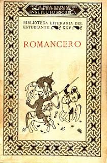 Romancero en Biblioteca literaria del estudiante dirigida por Ramón Menéndez Pidal,