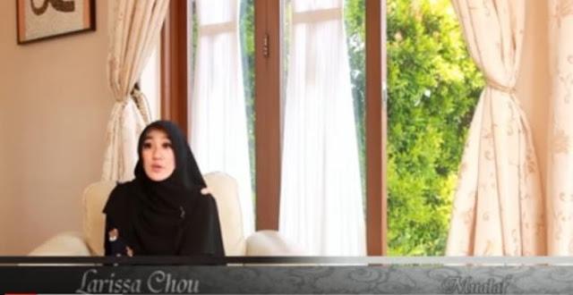 Disebut Bego Hingga Masuk Agama Teroris, Larissa Chou Tetap Menjadi Mualaf