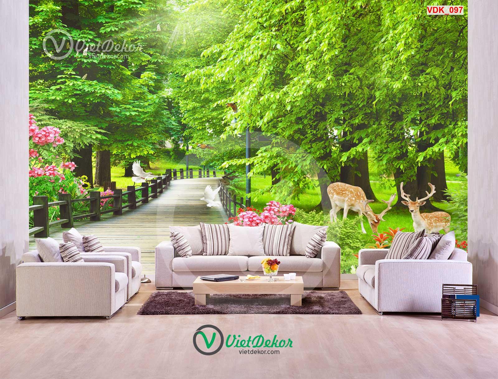 Tranh dán tưởng 3d phong cảnh thiên nhiên