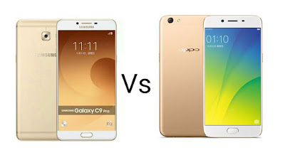Samsung Galaxy C9 Pro Vs Oppo R9s Plus