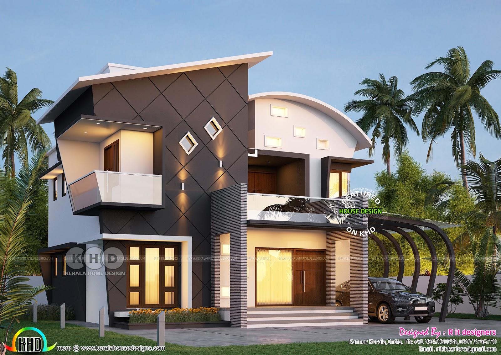 Stunning Ultra Modern 4 Bhk Kerala House Plan Kerala Home Design