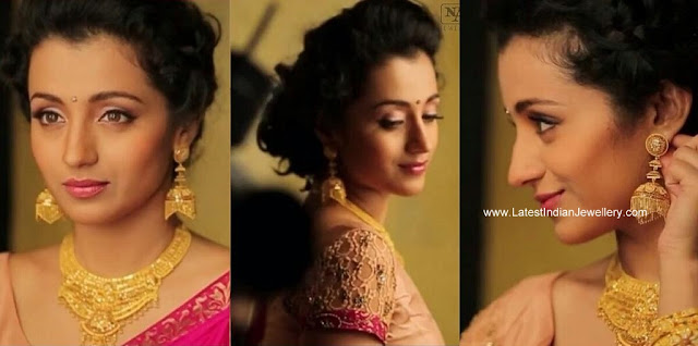 Trisha in Nac Gold Jhumka