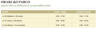 Calendario Parco della Preistoria 2016
