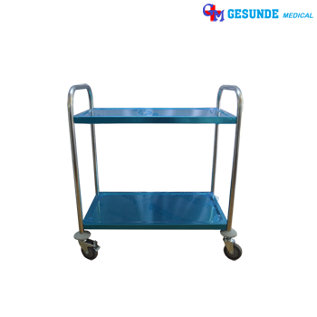 Trolley Makanan 2 Susun Stainless Steel