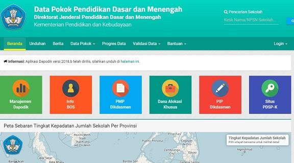Surat Edaran Dirjen Dikdasmen Pemutahiran Data DAPODIK 2018b Semester 2 Tahun 2017/2018
