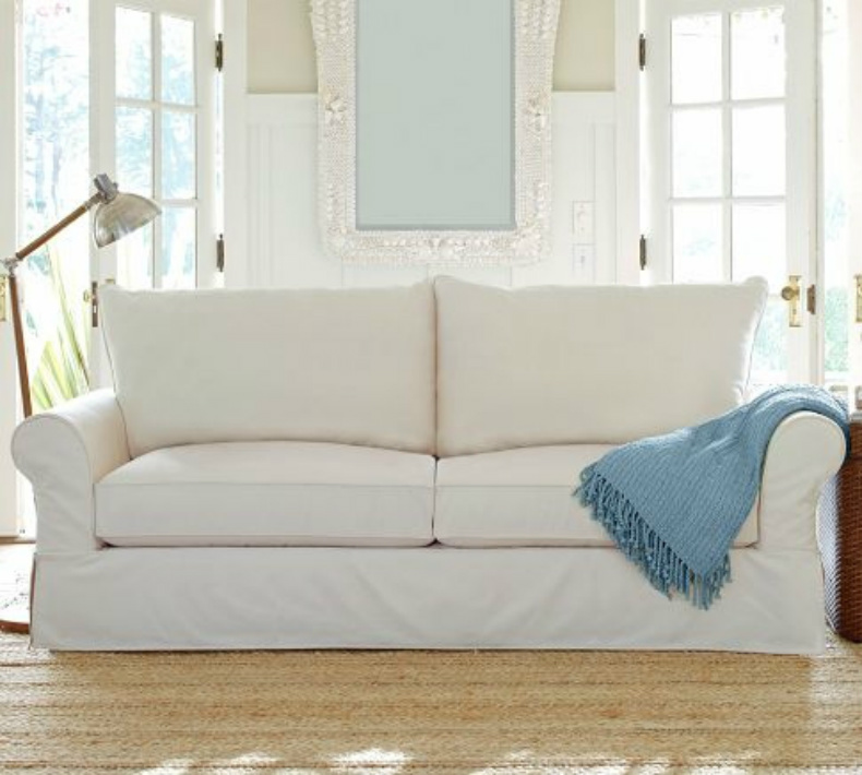 Going Coastal Pottery Barn Part I: Coastal Home: Inspirations On The Horizon: One Sofa