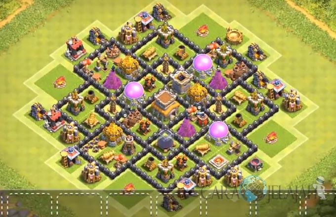 Base Farming TH 8 Clash Of Clans Terbaru 2017 tipe 25