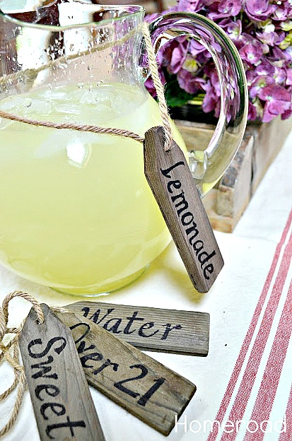 Rustic and repurposed diy beverage tags. Homeroad.net