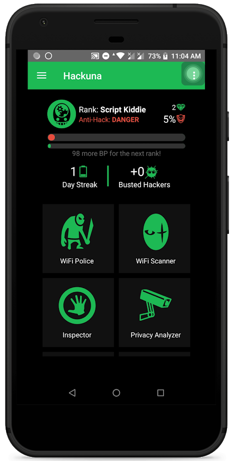 Hackuna - The First Mobile App to Track Hackers