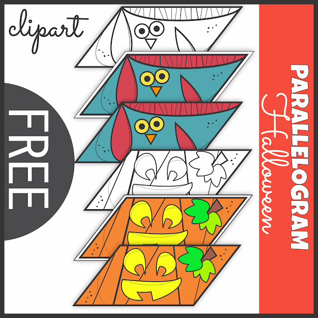 Halloween ClipArt Shape Parallelogram