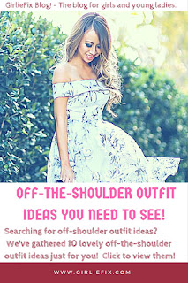 off the shoulder outfit ideas by GirlieFix Blog
