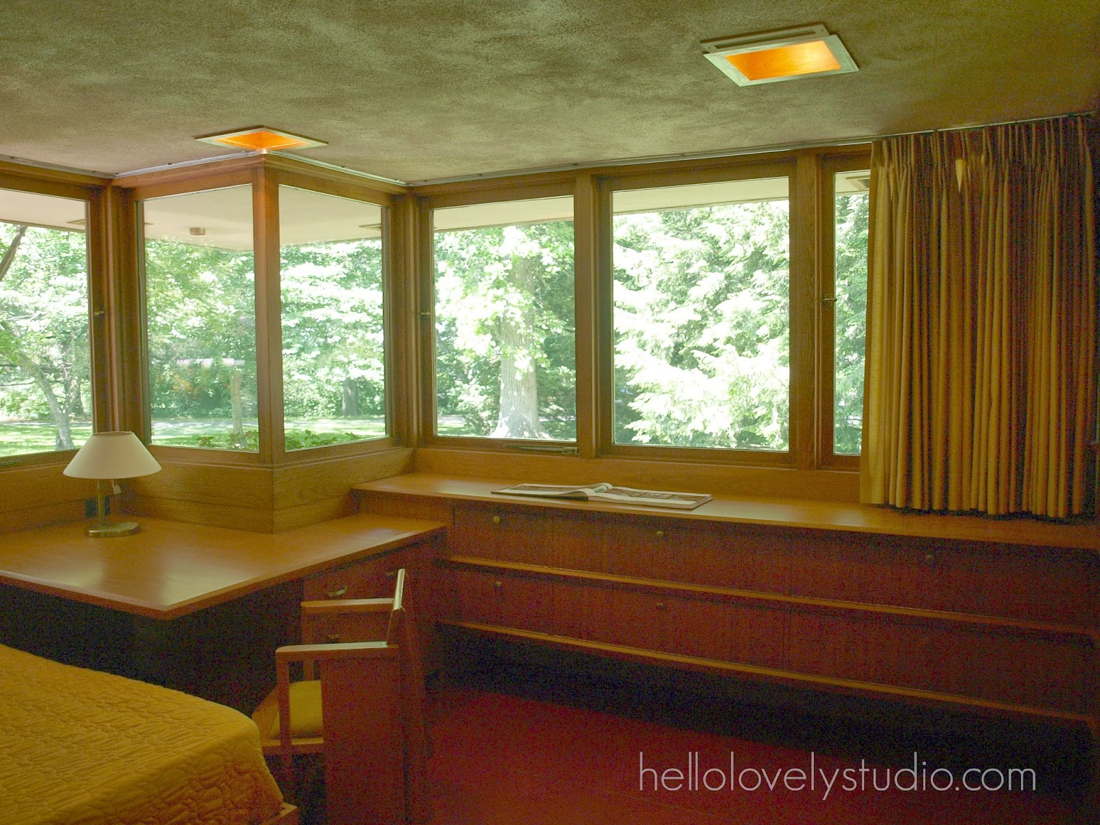 Frank Lloyd Wright Laurent House designed for owner Kenneth Laurent on Spring Brook Road in Rockford/ Designed to be wheelchair-accessible. #flw #franklloydwrighthouse #midcenturymodernarchitecture
