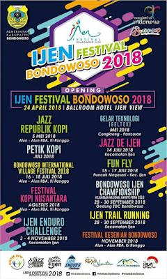 Jadwal Rangkaian Acara Ijen Festival Bondowoso 2018