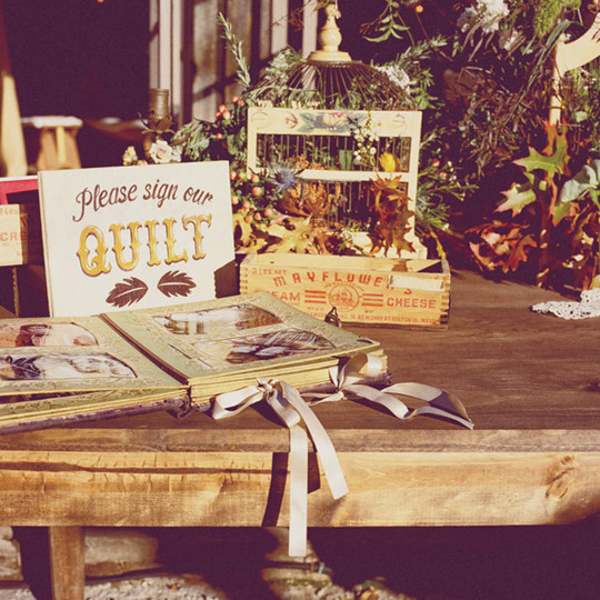 gorgeous DIY vintage fall Wedding Guestbook ideas