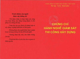 Chung chi hanh nghe giam sat xay dung